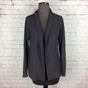 Eileen Fisher Italian Wool Open Front Sweater Sz S